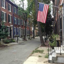 Row homes in old city Philadelphia